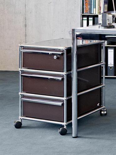 caisson roulettes mobilier design usm disponibles ici. Black Bedroom Furniture Sets. Home Design Ideas